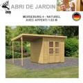 Abri de Jardin Merseburg 4 - 14mm + appenti