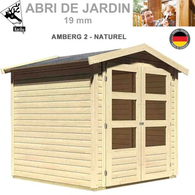 Abri de jardin bois Amberg 2 naturel - 186x186