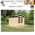 Abri de jardin bois Amberg 3 naturel - 246x186