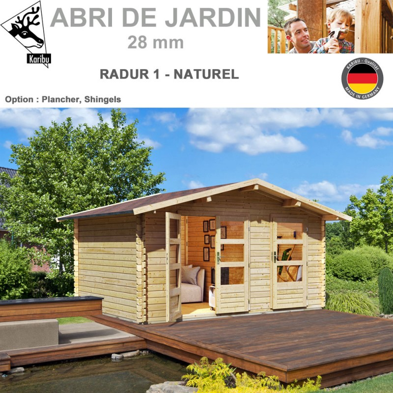 abri de jardin madrier 28 mm radur 1 417x327 2. Black Bedroom Furniture Sets. Home Design Ideas