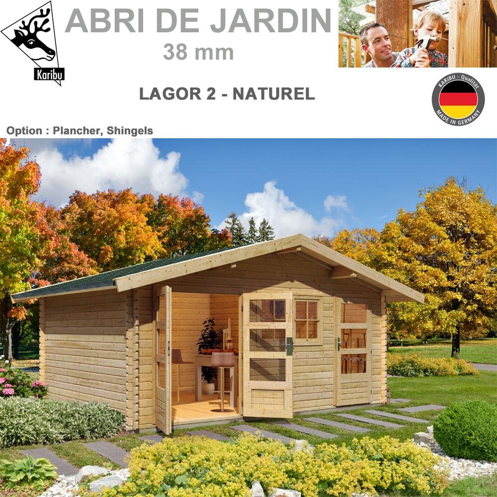 abri de jardin madrier 38 mm lagor 2 507x327 44984 karibu w. Black Bedroom Furniture Sets. Home Design Ideas