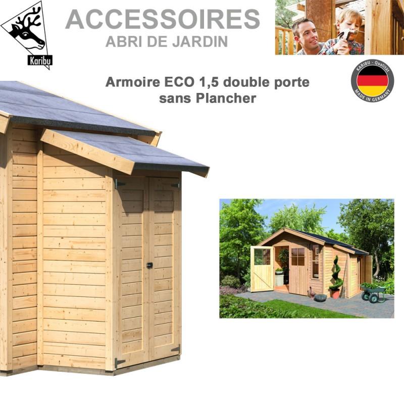 Armoire modulaire eco 1 5 sans plancher pour abri de for Abri jardin sans entretien