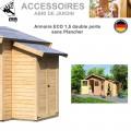 Armoire Modulaire Eco 1.5 sans plancher pour abri de jardin