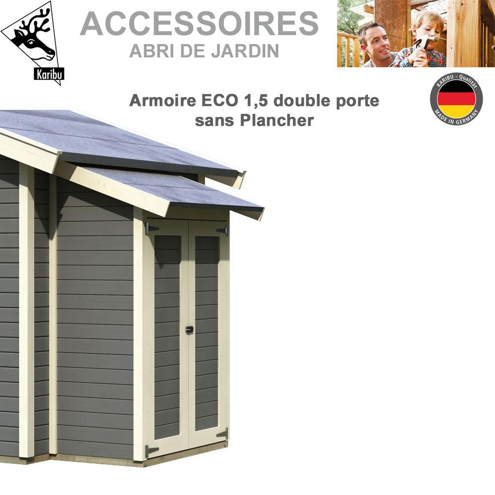 armoire modulaire eco 1 5 sans plancher pour abri de jardin. Black Bedroom Furniture Sets. Home Design Ideas