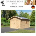 Garage bois madrier 28 mm