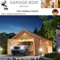 Garage bois madrier 40 mm