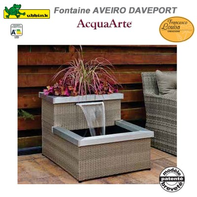 Fontaine de jardin extérieur Aveiro Daveport