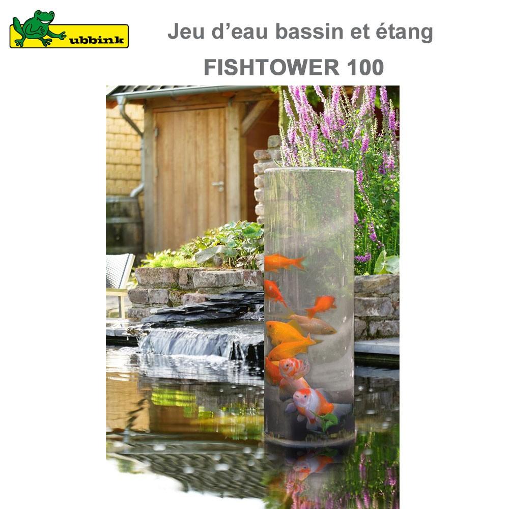 Tour poissons pour bassin aquatique fishtower 100 for Eclairage pour bassin aquatique