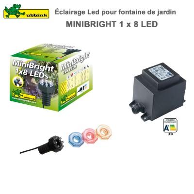 Eclairage LED pour fontaine de jardin MiniBright 1 x 8 LEDs