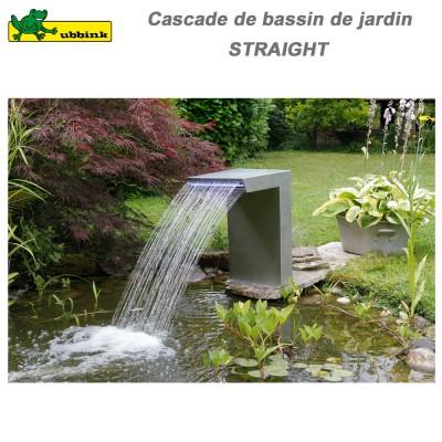 Cascade pour bassin extérieur Straight LED inox 316