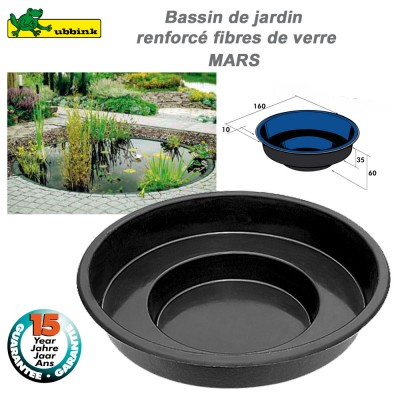 Bassin préfabriqué de jardin Mars RT1