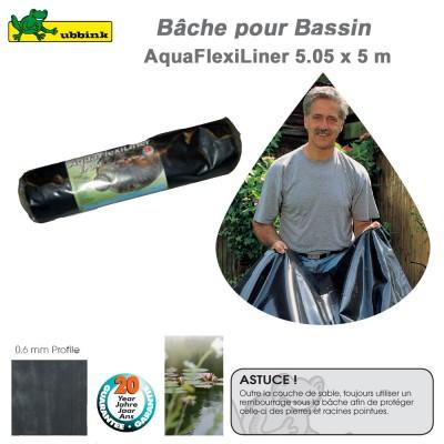 Bâche pour bassin de jardin EPDM AquaFlexiLiner 5.05x5