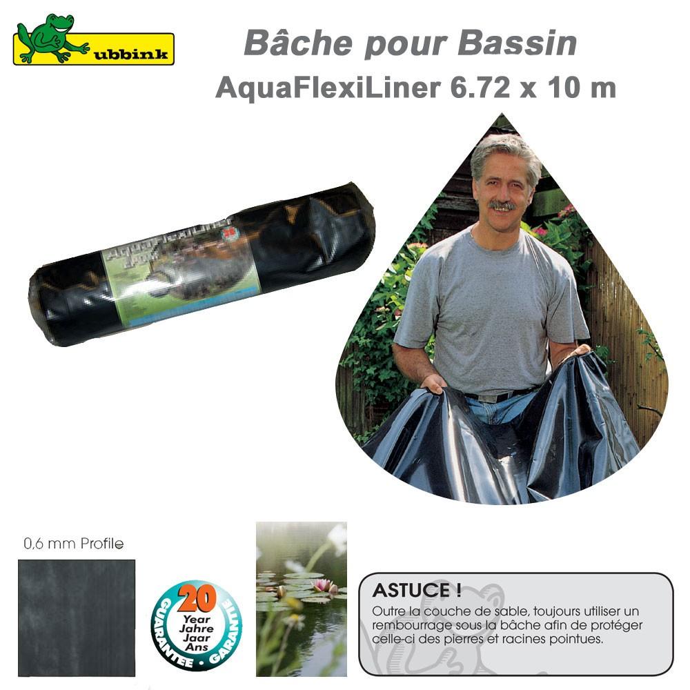 B che pour bassin de jardin epdm aquaflexiliner for Bache pour bassin de jardin
