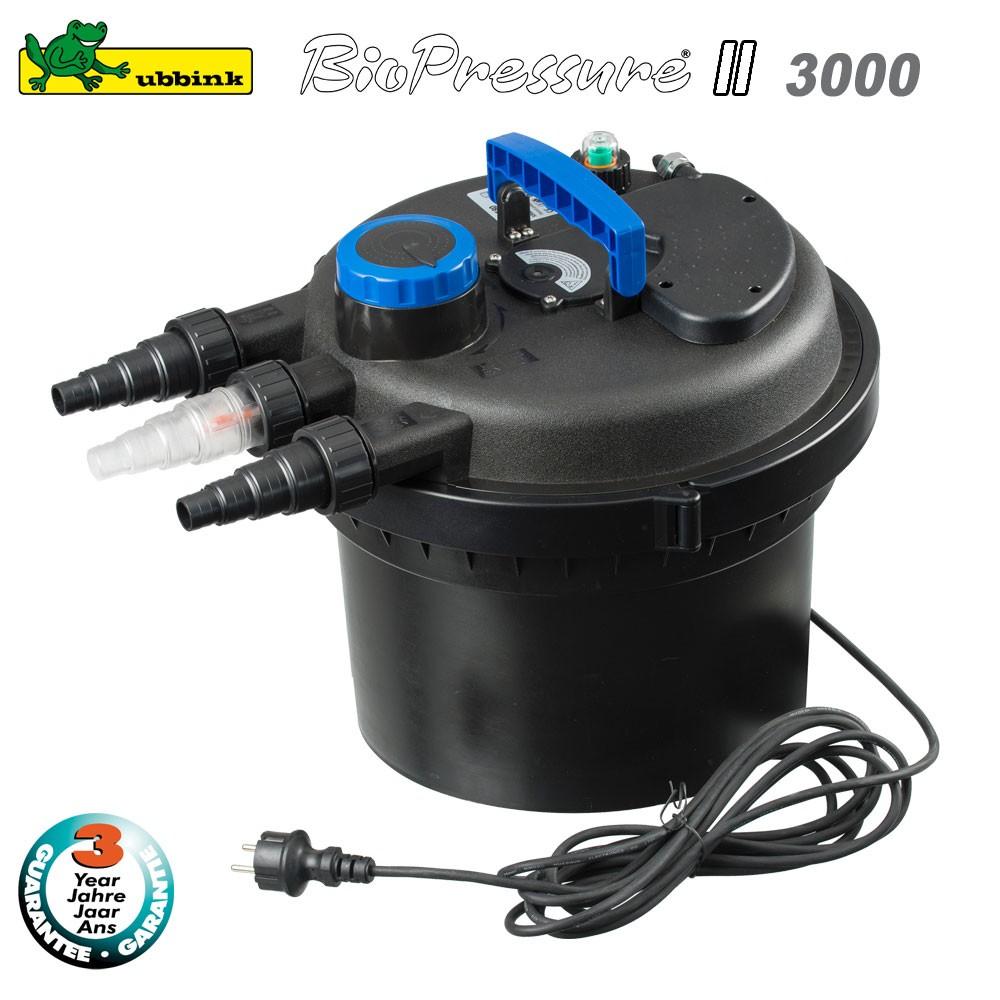 Filtre pour bassin ext rieur biopressure ii 3000 1355408 for Pompe de filtration pour bassin exterieur
