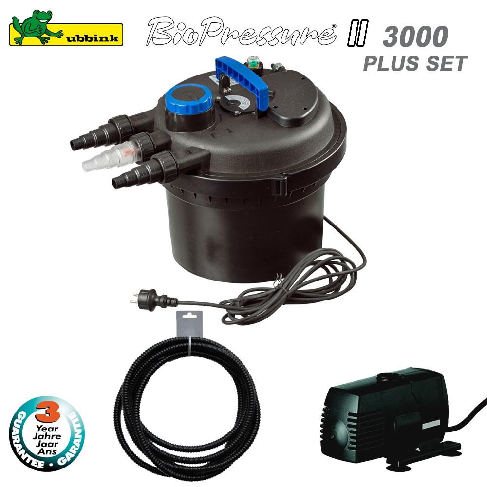 Filtre pour bassin ext rieur biopressure ii 3000 set plus for Filtre bassin