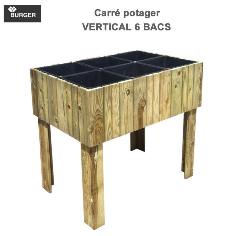 Carr potager bois haut vertikal 80 for Potager carre bois