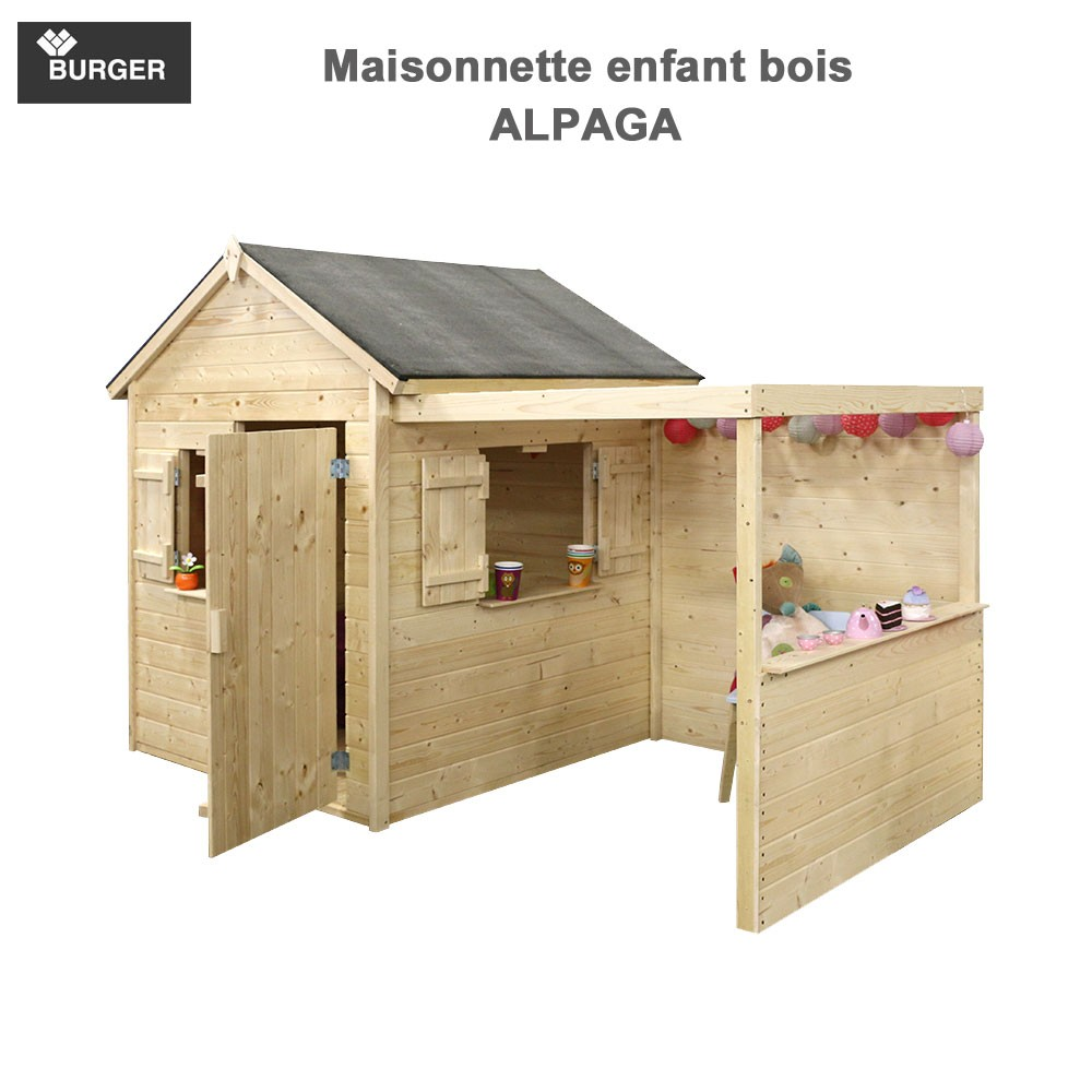 cabane en bois enfants alpaga. Black Bedroom Furniture Sets. Home Design Ideas