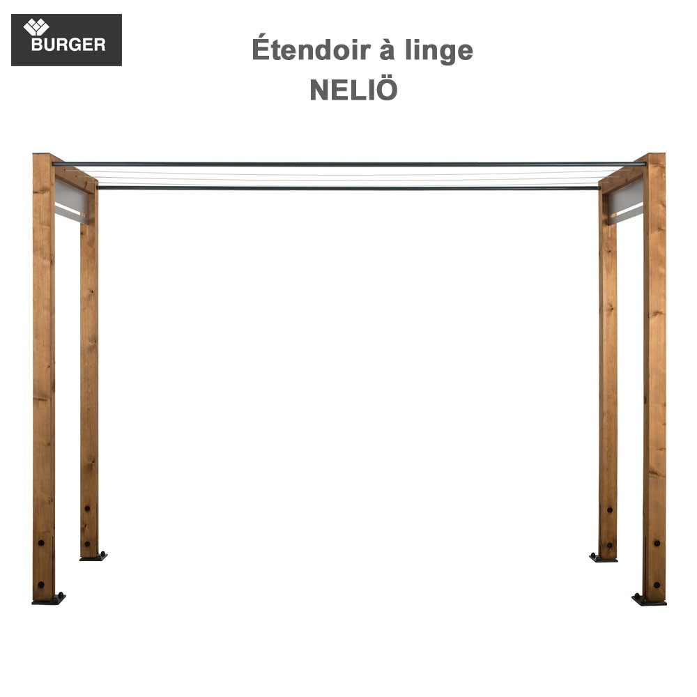 tendoir linge d 39 ext rieur en bois neli 330 00. Black Bedroom Furniture Sets. Home Design Ideas