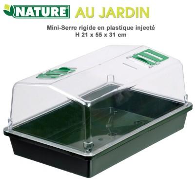 Mini serre d'intérieur - H21 x 55 x 31 cm