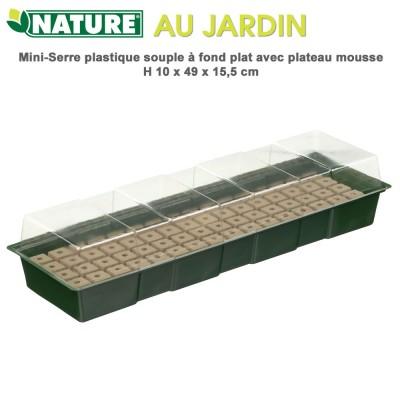 Mini serre d'intérieur hydropoique - H 10 x 49 x 15,5 cm