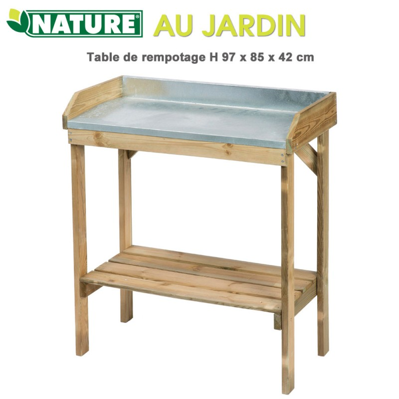 table de jardinage rempotage h 97 cm 6020500 nature. Black Bedroom Furniture Sets. Home Design Ideas