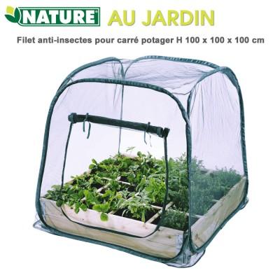 Filet anti-insectes pour carré potager - H 100 x 100 x 100 cm