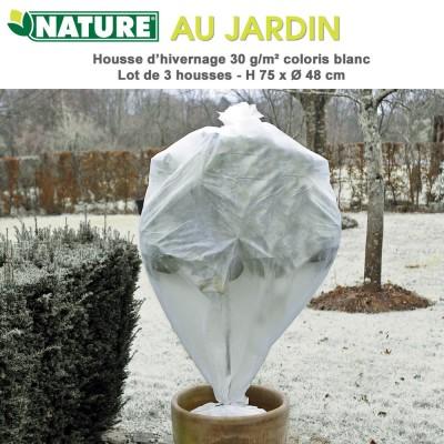 Lot de 3 gaines voile d'hivernage Diamètre 48 cm x H 75 cm