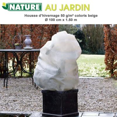 Voile d'hivernage 50 g/m2 coloris beige Dia 100 cm x 1.5 m
