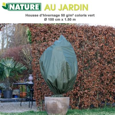Voile d'hivernage 50 g/m2 coloris vert Dia 100 cm x 1.5 m