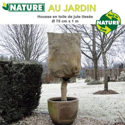 Voile d'hivernage naturel toile de jute Dia 75 cm x 1 m