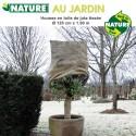 Voile d'hivernage naturel toile de jute Dia 125 cm x 1.5 m
