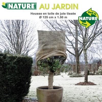 Voile d'hivernage natyrel toile de jute Dia 125 cm x 1.5 m