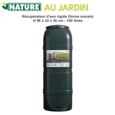 Récupérateur d'eau de pluie murale - 100 L vert