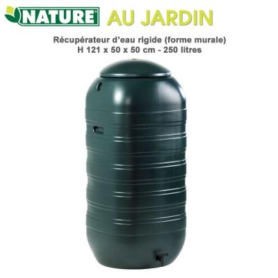 Récupérateur d'eau de pluie murale - 250 L vert