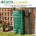 Récupérateur d'eau de pluie murale - 320 L