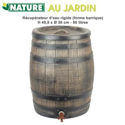 Récupérateur d'eau de pluie barique - 50 L