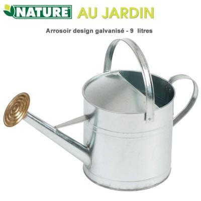 Arrosoir de jardin design galvanisé 9 litres