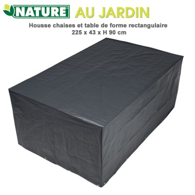 Housse de protection table rectangulaire 225 x 143 cm x H 90 cm