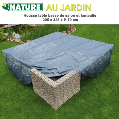 Housse de protection salon de jardin 325 x 325 cm x H 70 cm