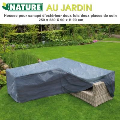 Housse protection canapé d'exterieur 250 x 90 x H 90 cm