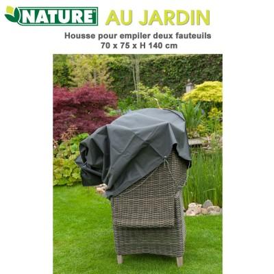 Housse protection fauteuil de jardin 75 x 70 x H 140 cm