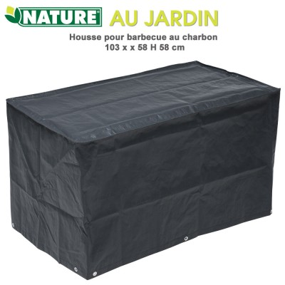 Housse protection pour babecue charbon 103 x 58 x H 58 cm