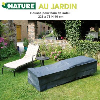 Housse protection pour bain de soleil 205 x 78 x H 40 cm