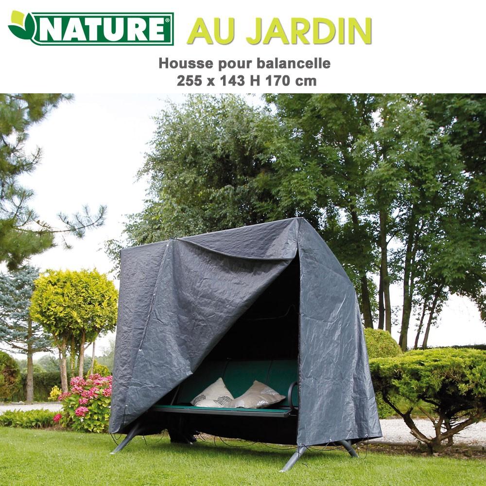 Housse protection pour balancelle 255 x 143 x H 170 cm 6030608-Nature