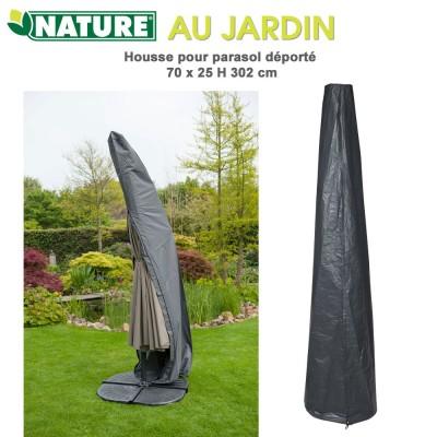 Housse protection pour parasol déporté 25/70x H 302 cm
