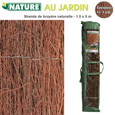 Brise vue naturel en bruyère 1.5 x 5 m - 1 cm