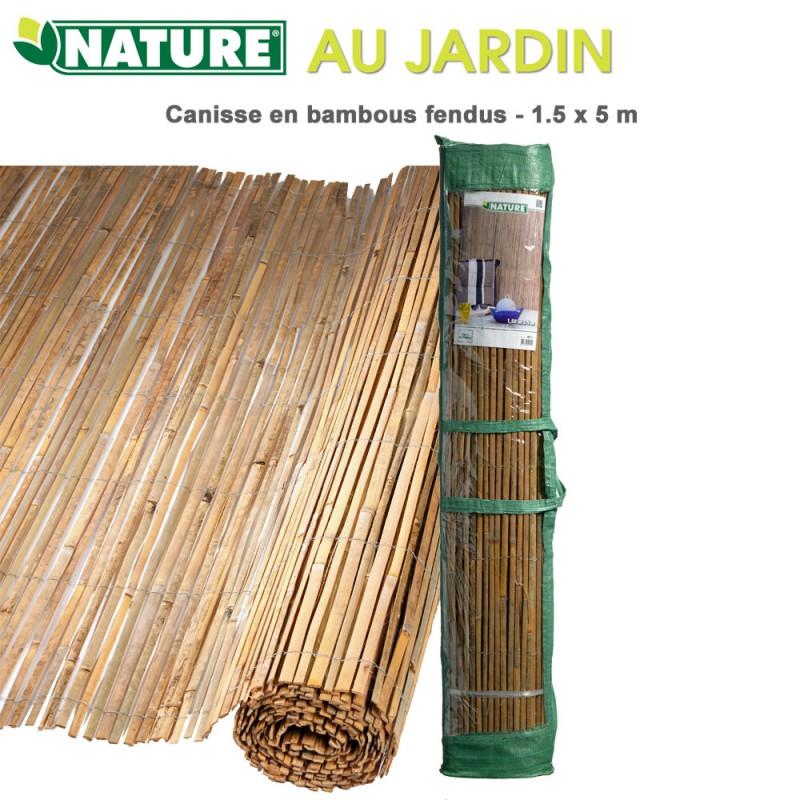 brise vue naturel bambou fendus 1 5 x 5 m 6050121 nature. Black Bedroom Furniture Sets. Home Design Ideas