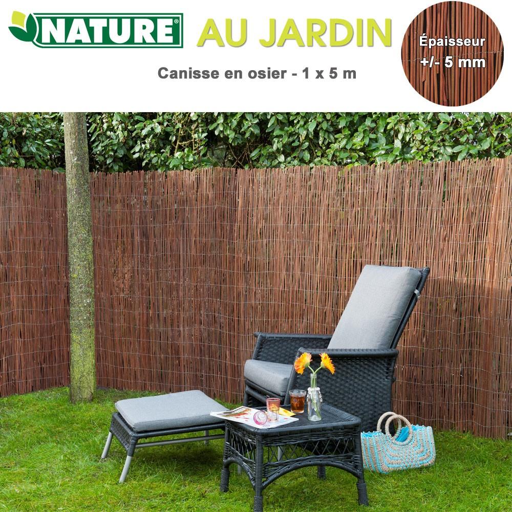 Brise vue naturel en osier 1 x 5 m 5mm 6050170 nature - Brise vue osier ...