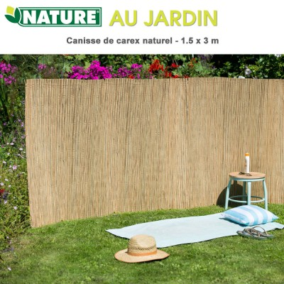 Brise vue naturel en carex 1.5 x 3 m