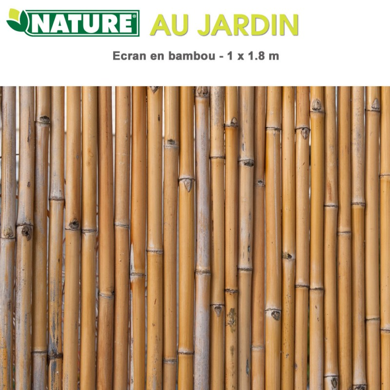 brise vue naturel en bambou 1 x m 6050140 nature. Black Bedroom Furniture Sets. Home Design Ideas